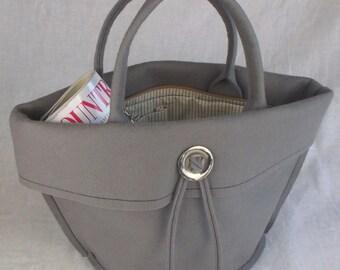 Felt Handbag Grey Wool Felt Bag