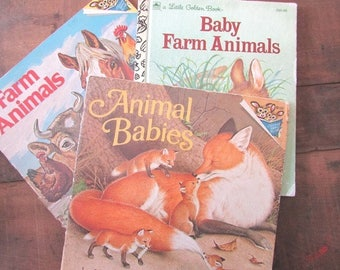 Little Golden Book Baby Farm Animals Farm Animals Please Read To Me Books Animal Babies