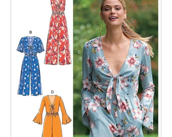 Sewing Pattern for Misses' Jumpsuits and Romper, McCall's Pattern 7756, New Pattern,  Rompers & Jumpsuit with Length and Sleeve Options