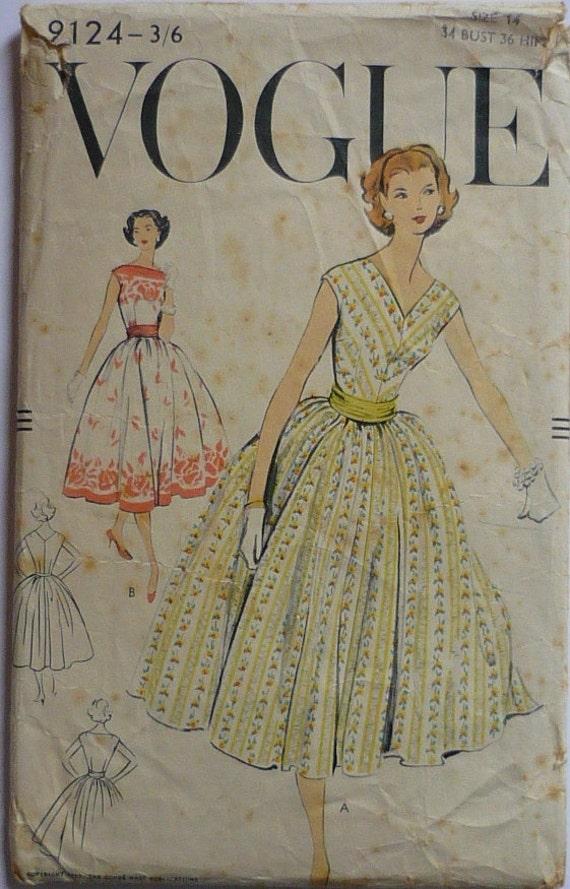 Vintage Schnittmuster. Mode 9124. Schnittmuster der 1950er