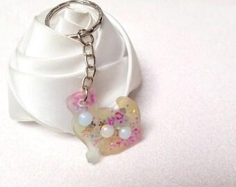 glittery Kitty bag bijour key holder