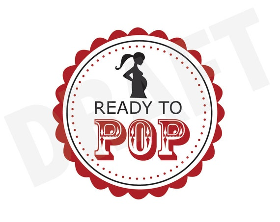 Ready To Pop Baby Shower Favors Digital Download File Clipart