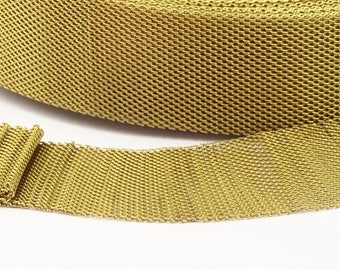 Huge Knitted Mesh Chain, 1 M Large (30x1mm) Raw Brass Mesh Chain Z056