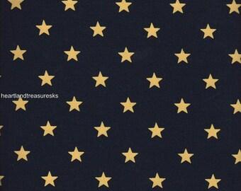 Dunroven House H-51000 Black w/ Ecru Stars Fabric 1/2 Yd Cut Off The Bolt