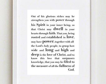 Printable Christian Art; Ephesians 3;