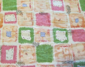Free Shipping! Vintage C.G. Print in Patchwork. 1/2 Yard. 17054