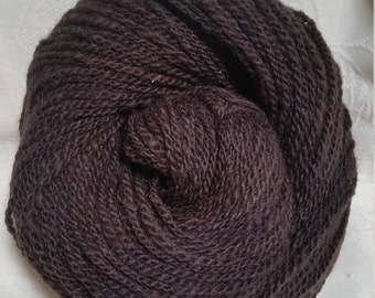 Lot 57, Double Ply Worsted Handspun Long-Wool Yarn, natural browns