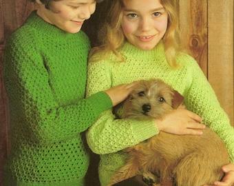 Vintage Knitting Pattern PDF Boys Sweater