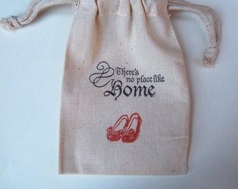 There's No Place Like Home /  Tin Man / Lion / Dorothy/ Wizard of Oz Party Favor Bags / Set of 50