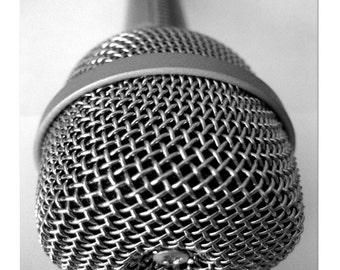 """Vintage Electro-Voice Microphone - 8.5"""" x 11"""" Fine Art Photograph"""