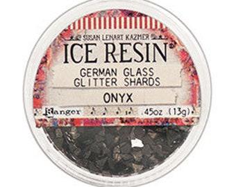 Ice Resin, ONYX German Glitter Glass,  Susan Lenart Kazmer Casting Inclusions .45oz Black German Glass Glitter Shards For Using With Resin