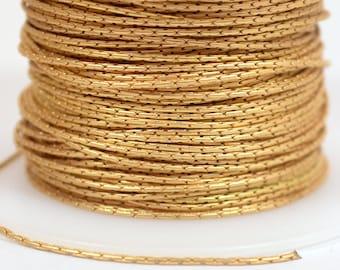 Fine Beading Chain - Matte Gold - .78mm Links - CH22-MG - Choose Your Length