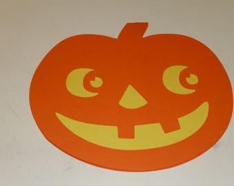 Halloween Pumpkin Shape Card