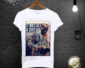 Notorious Big Shirt / Biggie Smalls Shirt / Notorious T shirt Hip Hop Tee Biggie Tank Top It Was All A Dream Tshirt Biggie Crown Shirt MD591