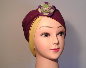 Reversible, stretch, woman, girl chemo Hat