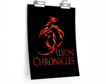 Ilyon Chronicles Red Dragon Poster - Multiple Sizes