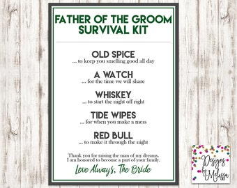 Groom\'s Wedding Day Survival Kit Groom Gift from Bride