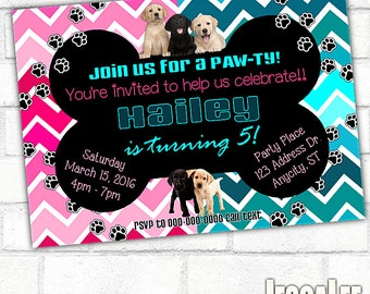 Puppy Invitation, Puppy Pawty, Printable Invitation, Puppy Printable, Puppy Invite, Pawty Invite, Puppy Dog Party, Puppy Birthday, Dog Party