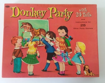 Vintage Donkey Party/ Pin the Tail on the Donkey Party Game