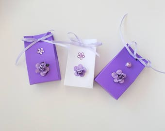 Lavender and white gift boxes, bridesmaid gift box, bridal shower favors, hen party favors, wedding favors, gift for her, mother in law gift