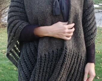 Knit Wrap, Knit Ruana, Wrap, Ruana, Wrap to knit, Knitting Pattern, Women's Wrap, Women's Ruana, Ruana to knit, Shawl, Shawl to knit,
