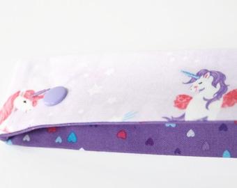 "Unicorn DPN Holder, 8"" DPN Case, DPN Cosy - Knitting Gift, Double Pointed Needle Case, Knitting Needle Case, Sock Knitting Holder"
