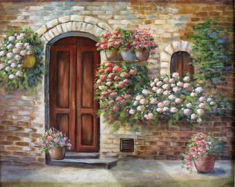 TUSCAN DOOR, an original acrylic painting