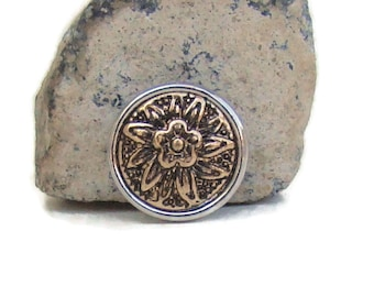 MINI 12 mm, gold and silver tone, noosa snap charm button for interchangeable snap button jewelry, like ginger snaps and magnolia and vine