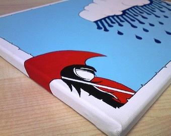 Made to Order. Acrylic Painting On Canvas - Original - Looks like Rain