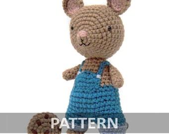 PATTERN Cookie Mouse Amigurumi Crochet Plush PDF