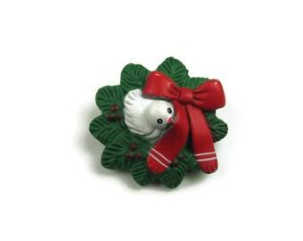 Christmas Dove Brooch