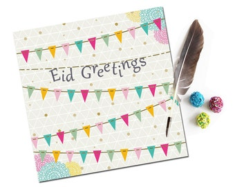 Contemporary Eid Mubarak Card, Eid Card, Eid Greeting Card, Islamic Cards, Muslim Cards