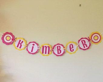 Happy Sunshine Name Banner
