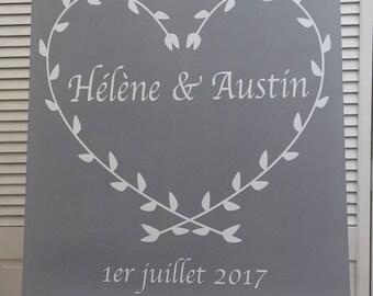 Large plate customizable wedding decoration