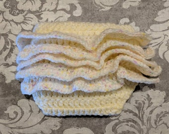 Frilly diaper/nappy cover