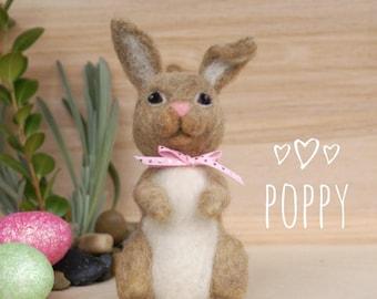 Needle felted bunny, Easter bunny, wool felt rabbit, desk buddy, Easter decoration, spring decor, Easter gift, needle felting, handcrafted