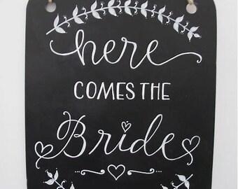 Blackboard- 'Here comes the Bride'