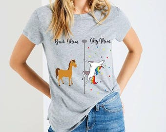 Digital file SVG AND DXF Your Mom My Mom Unicorn-Your Auntie My Auntie-Aunt-Before Wine