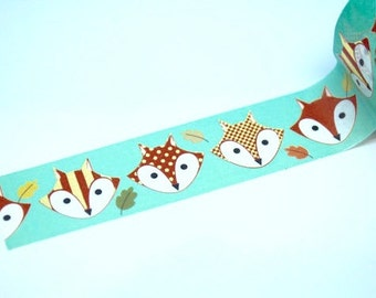 FOX FOIL Tape - 10 yards - Gift Wrap - Packaging - Paper Tape - What Does the Fox Say - Fox party