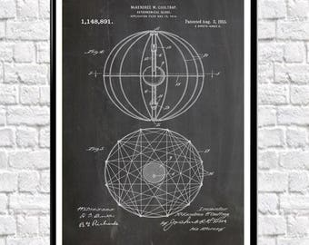 Astronomical Globe Patent Print Astronomy Patent Art Astronomy Wall Art Astronomy Decor Astronomy Art Space Poster Space Poster WB179