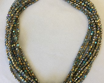 Nine strand Czech necklace