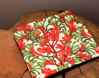 Kangaroo Paw, Floral Print, Australia, Australiana, Flower, Coin Purse, Boho Wallet, Cosmetic Pouch, For Her, Floral Fabric, Gift, Present