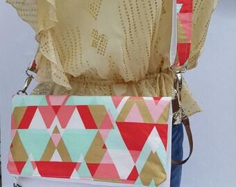 Gold Crossbody Bag, Crossbody Purse, Pink Crossbody, Crossbody Strap, Brown Faux Leather, Clutch Bag, Crossbody Handbag, Mothers day gift