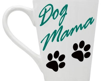 Dog Mama 14oz Coffee Mug by SilhouetteofaMan