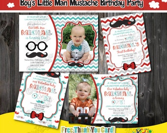 Little Man birthday InvitationLittle Man Mustache Birthday