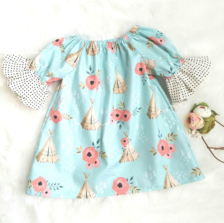 Baby Girls Boho Dress Girls Boho dress baby girls peasant dress