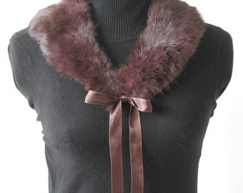 Fur Collar/Brown Fur Collar /Brown Fur Collar coat/Coat Collar/Decorative fur collar/shawl collar/Fur shawl collar/Decorative shawl collar