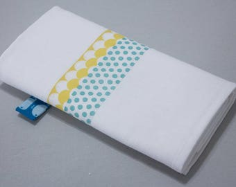 """Small Swaddle """"Calf"""" - yellow scales & blue dots"""