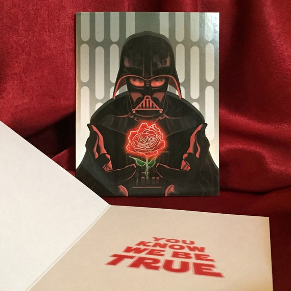 DARTH VADER Star Wars Valentineu0027s Day CARD!
