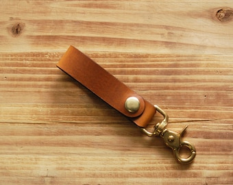 Leather Key Fob | Men's Gift | Horween Leather Key Fob | Key Chain | Key Fob | Key Tether | Gifts for Him | Christmas Gift
